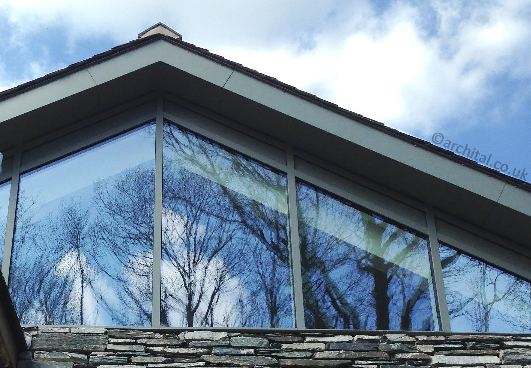 Alumium soffits matching RAL colour